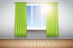 Esempio di stanza vuota con la finestra illustrazione di stock