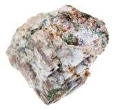 Esemplare della roccia di Delhayelite isolato Fotografia Stock Libera da Diritti