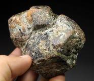 Esemplare molto bello del cristallo del granato dell'almandino Fotografie Stock