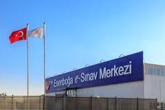 Esenboga e-sinav merkezi centrum elektroniczni egzaminy w esenboga podczas e-yds języka obcego elektronicznego egzaminu w Ankara, Zdjęcia Stock