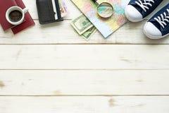 Esencial del planeamiento del viaje Imágenes de archivo libres de regalías