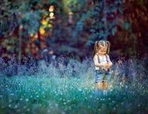 Eseniya在森林里 免版税图库摄影