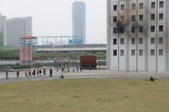 Esercitazione antincendio Immagini Stock Libere da Diritti