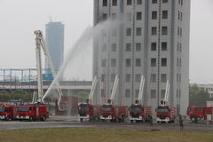 Esercitazione antincendio Immagine Stock Libera da Diritti