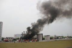 Esercitazione antincendio Immagine Stock