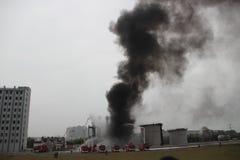 Esercitazione antincendio Immagini Stock