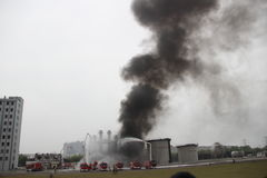 Esercitazione antincendio Fotografia Stock