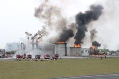 Esercitazione antincendio Fotografie Stock
