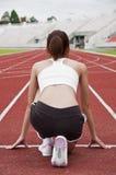 Esercitazione asiatica della ragazza di sport. Fotografia Stock