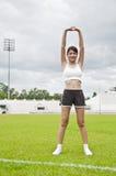 Esercitazione asiatica della ragazza di sport. Immagini Stock Libere da Diritti