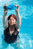 Esercitazione attiva senior della donna Fotografia Stock