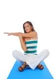 Esercitazione dei pilates di yoga Fotografie Stock Libere da Diritti