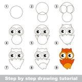 Esercitazione del disegno come disegnare una medusa - Come disegnare un cartone animato di gufo ...