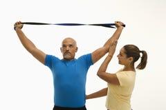 Esercitazione dell'uomo e della donna. Fotografie Stock Libere da Diritti