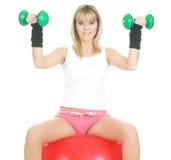 Esercitazione di concetto di Pilates Immagine Stock