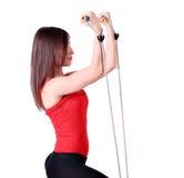Esercitazione di forma fisica della ragazza Immagine Stock