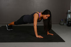 Esercitazione di ginnastica Fotografia Stock