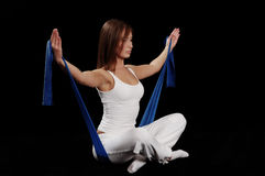 Esercitazione di Pilates fotografia stock libera da diritti