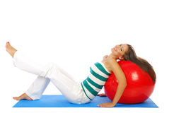 Esercitazione di Pilates Immagine Stock
