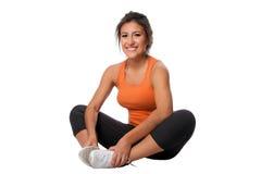 Esercitazione di seduta di forma fisica Fotografia Stock Libera da Diritti