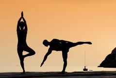 Esercitazione di yoga Fotografie Stock