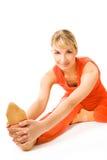 Esercitazione di yoga Immagini Stock