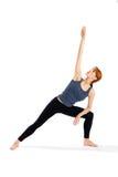 Esercitazione di yoga della giovane donna Immagine Stock Libera da Diritti