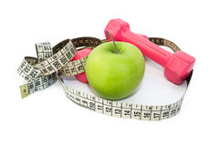 Esercitazione e dieta sana Immagini Stock Libere da Diritti