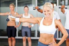Esercitazione in ginnastica Immagini Stock