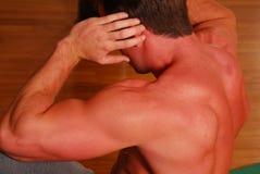 Esercitazione muscolare della parte posteriore Immagini Stock Libere da Diritti