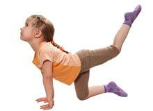 Esercitazione relativa alla ginnastica Fotografia Stock
