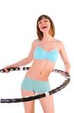 Esercitazioni con il cerchio di hula Immagine Stock
