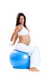 Esercitazioni di gravidanza Fotografia Stock Libera da Diritti