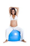 Esercitazioni di gravidanza Immagini Stock Libere da Diritti