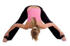Esercitazioni di yoga fotografie stock libere da diritti