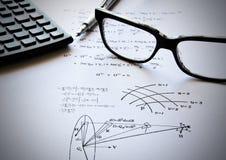 Esercitazioni e banco di fisica Fotografie Stock