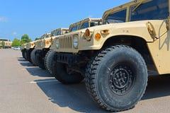 Esercito americano Humvee a Potsdam, New York, U.S.A. fotografia stock libera da diritti