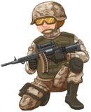 Esercito con la pistola del fucile caricata con le pallottole royalty illustrazione gratis