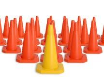 Esercito dei coni di traffico Immagine Stock