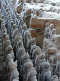 Esercito dei guerrieri di terracotta Fotografia Stock