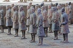 Esercito di fama mondiale di terracotta situato in Xian China fotografia stock
