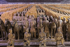Esercito di fama mondiale di terracotta situato in Xian China immagine stock