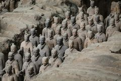 Esercito di Terracota del primo imperatore della Cina fotografie stock