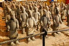 Esercito di terracotta di Bing mA Yong fotografie stock libere da diritti