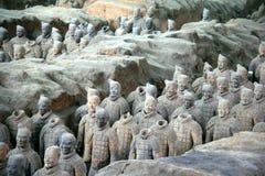Esercito di terracotta, Xian (Cina) fotografia stock