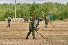 Esercito Games-2017 Concorso Tjumen'della via sicura La Russia Immagini Stock