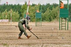 Esercito Games-2017 Concorso Tjumen'della via sicura La Russia Immagine Stock