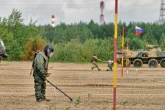 Esercito Games-2017 Concorso Tjumen'della via sicura La Russia Fotografia Stock