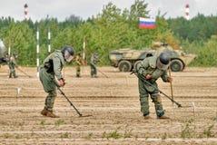 Esercito Games-2017 Concorso Tjumen'della via sicura La Russia Fotografia Stock Libera da Diritti