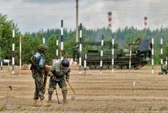 Esercito Games-2017 Concorso Tjumen'della via sicura La Russia Fotografie Stock Libere da Diritti